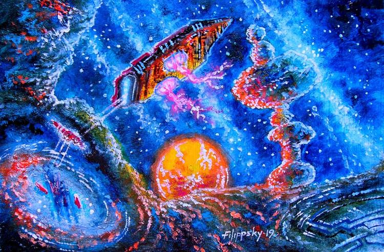 Cosmic currents.