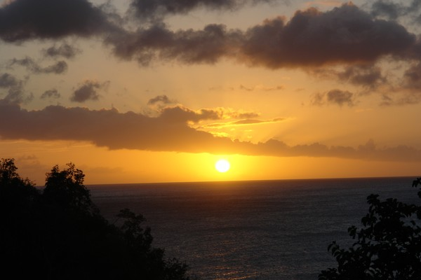 Sunset from my honeymoon cottage