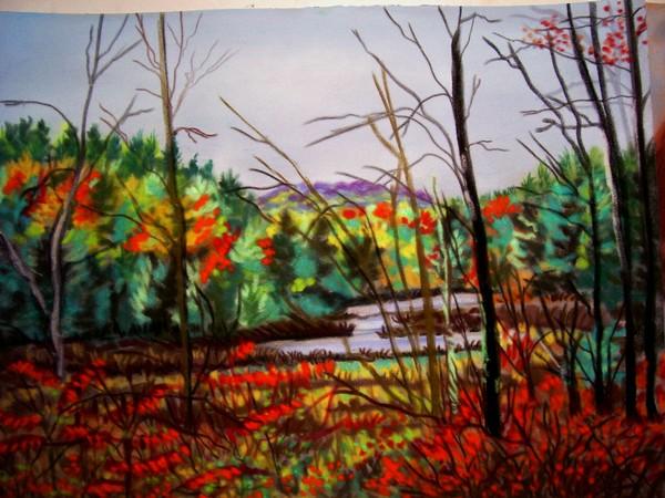 pastel of wetlands two