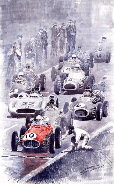 Last Control Maserati 250 F France GP 1954