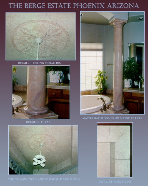 Marble and Stone faux paint effects