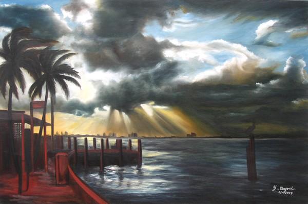 Haulover Marina at dusk