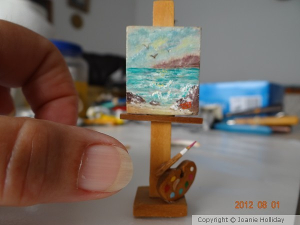 MINI PAINTING-OIL-FOR DOLL HOUSE.