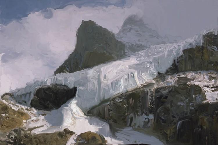 Athabaska Glacier Painting 72px