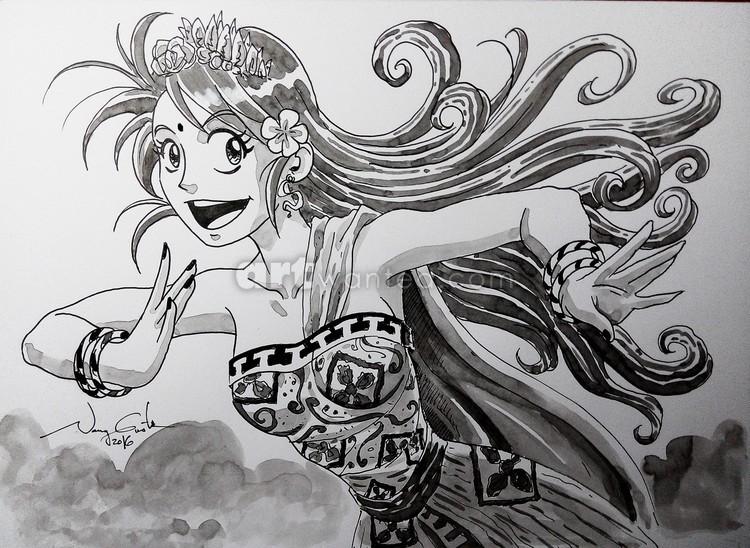 Manga and Bali dance