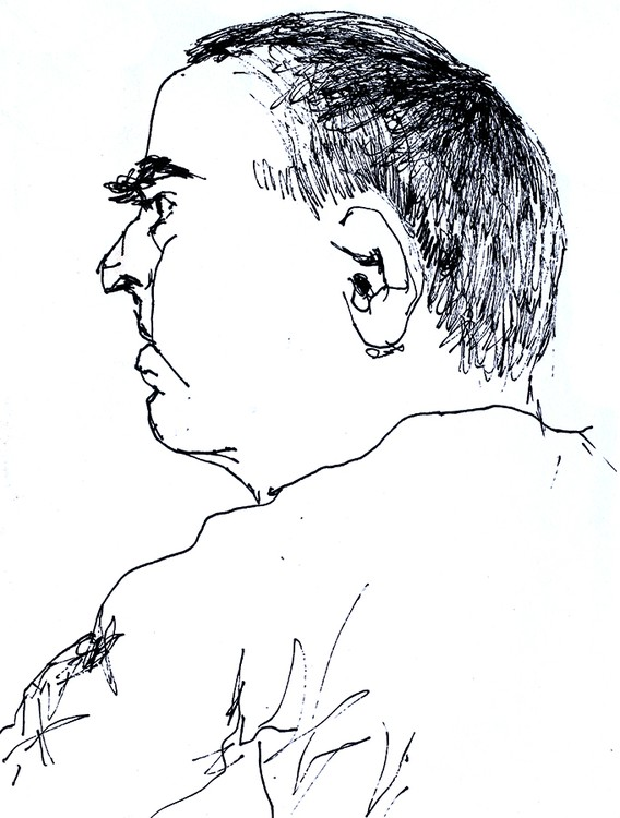 expressive man portrait drawing male portraits drawings ink  on paper artist painter raphael perez