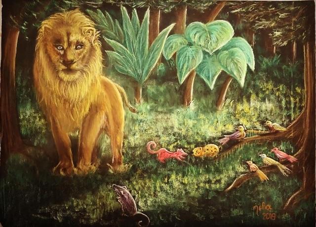 LionAndTheMousePastel40X60