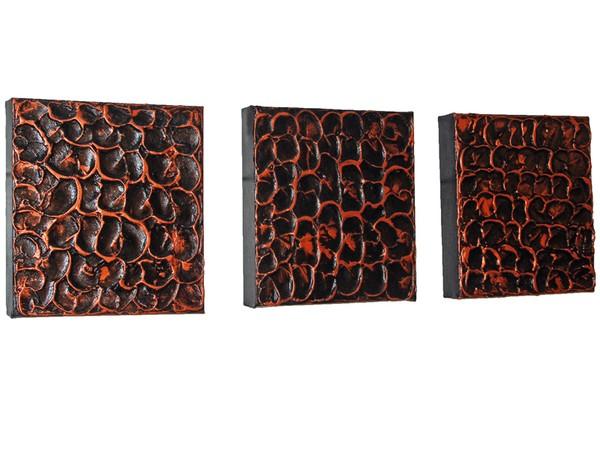 Organically Grown (Textured Triptych)