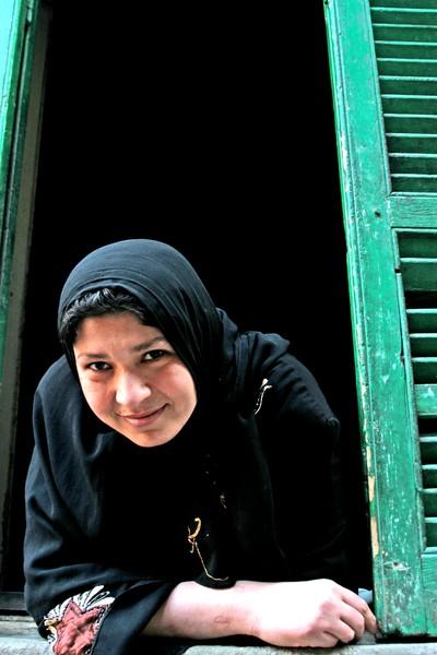 Egytian Beauty in Window