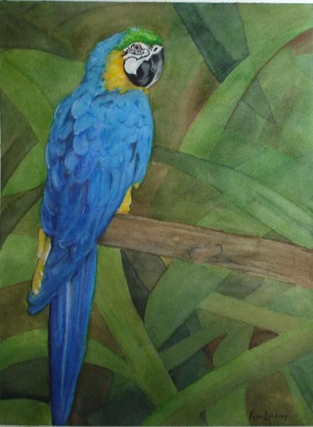 Parrot Series:  Cyan Blue