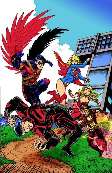Super Girl  vs. The Teen Titans