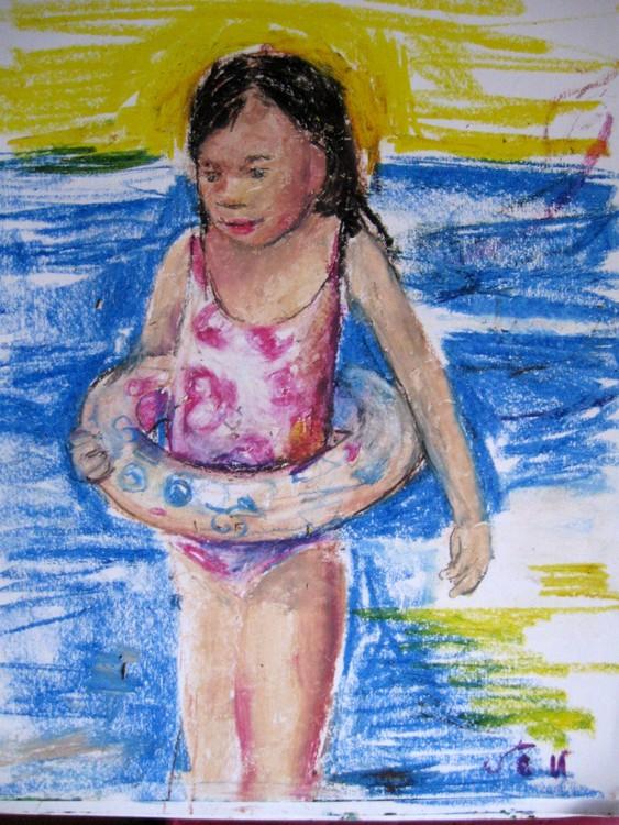 Swimmer girl-