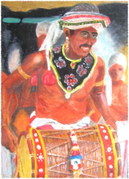 Sri Lanka trditional drams player