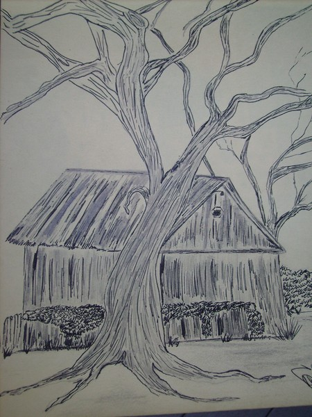 Jacob's barn with tree