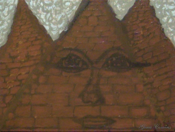 Three Pyramids With A Face