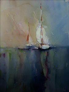 The white sailing boat