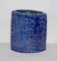 Cobalt Blue Textured Ceramic Vase