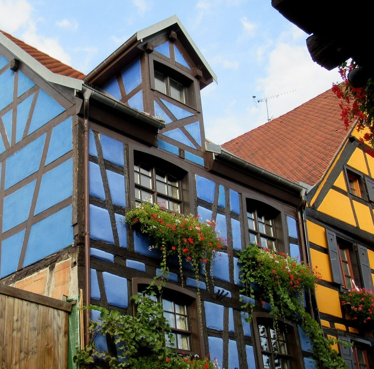 BLUE HOUSE IN ALSACE FRANCE