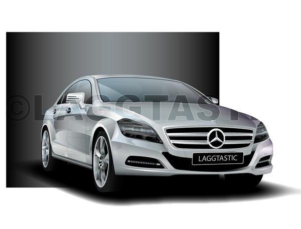 Mercedes CLS Illustration