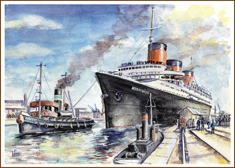 The ss Normandie in Le Havre
