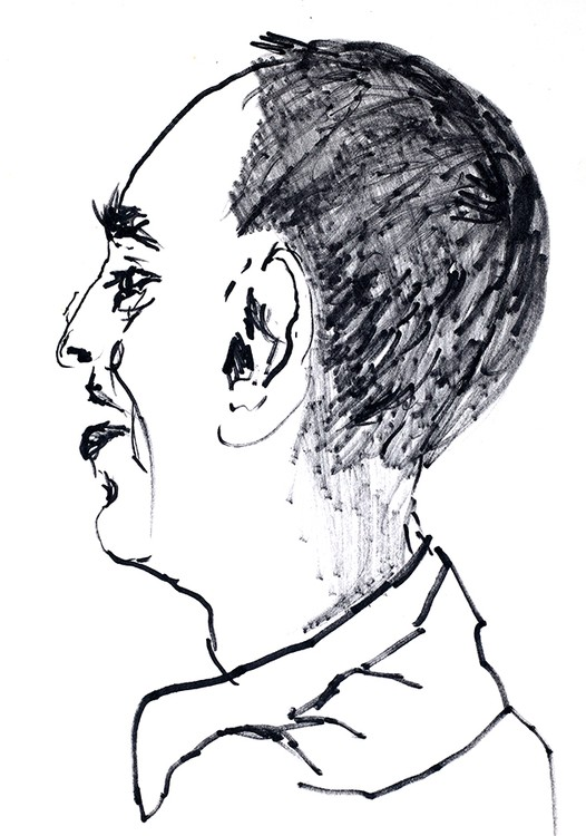 expressive man portrait drawing male portraits drawings ink  on paper artist painter raphael perez