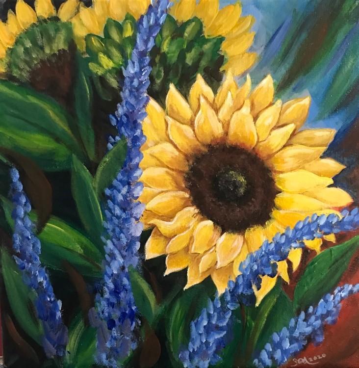 Sunflowers and saliva