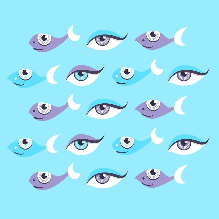 Fish And Eyes Pattern