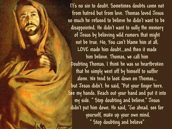 Doubting Thomas...