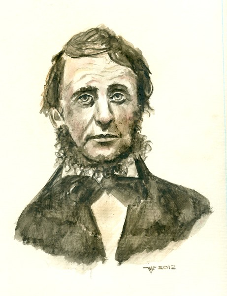 Henry David Thoreau portrait sketch