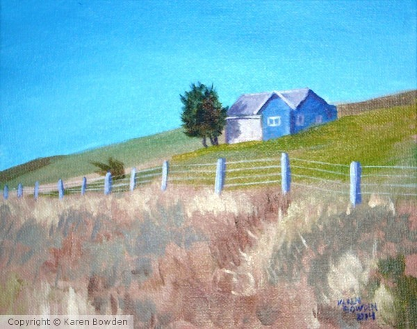 Little Blue House $150 USD