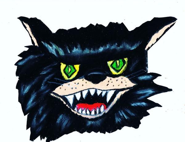 HALLOWEEN SCARY BLACK CAT