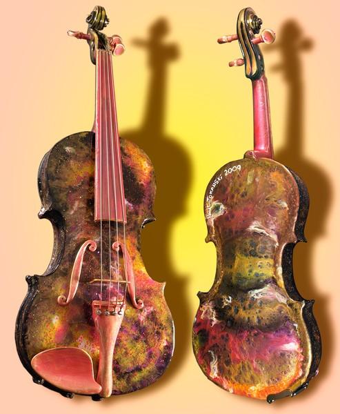 Violin in Magenta