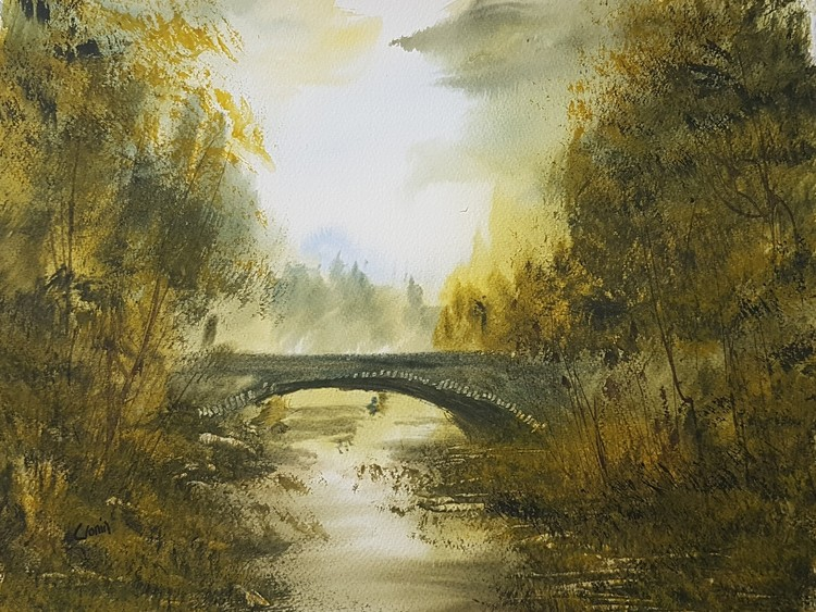 Invermoriston Bridge Watercolour Painting