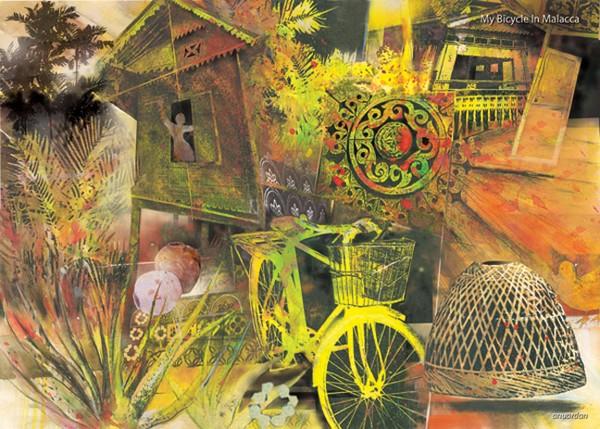 postcard series Melaka Images