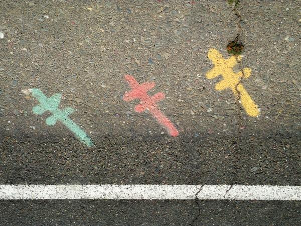 Three glyphs