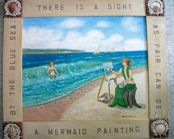 Mermaid Painting by the Sea
