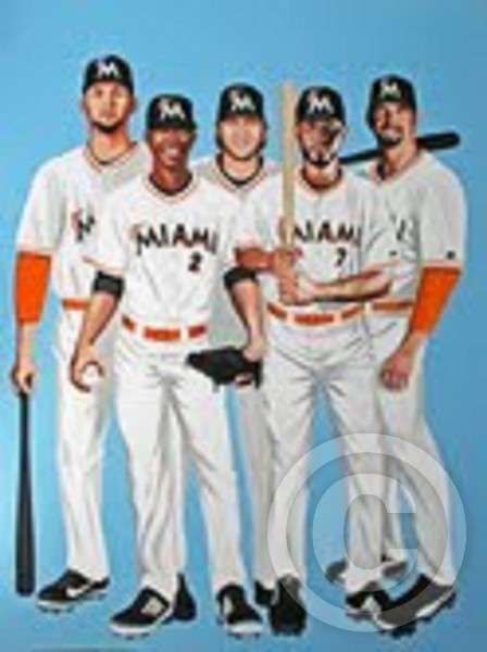 MIAMI MARLINS 2012 by DON HALL