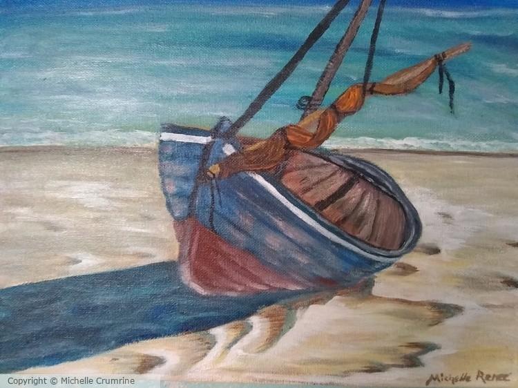 Blue Fisherman's Boat
