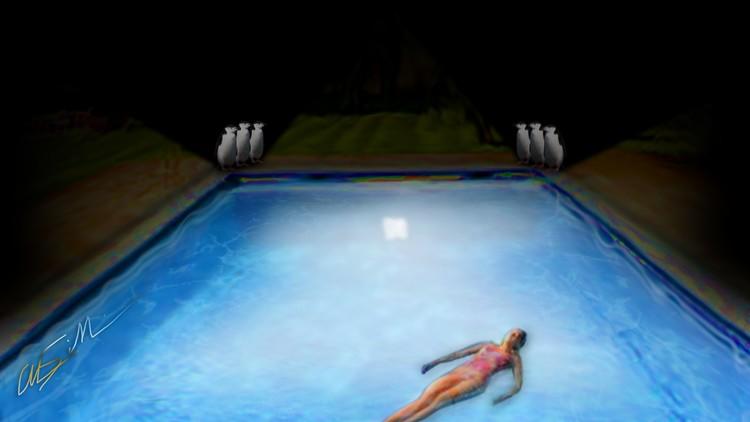 Midnight Swim Draws a Crowd