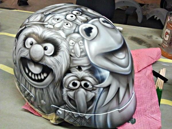 Airbrush art helmet