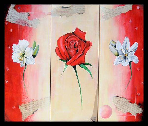 Floral triptych