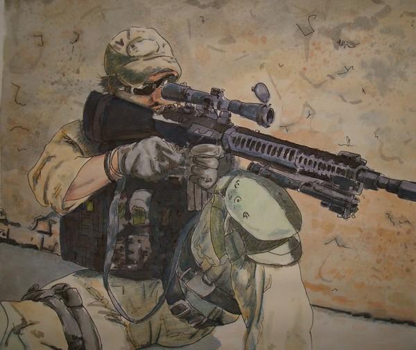 Modern Day Soldier:  Waiting