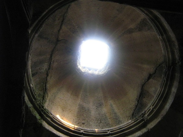 Geghard monastry dome in Armenia