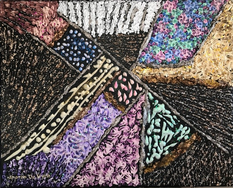 Abstract 8 Patchwork Quilt