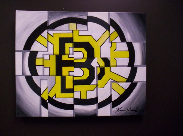 Boston Bruins Abstract Painting