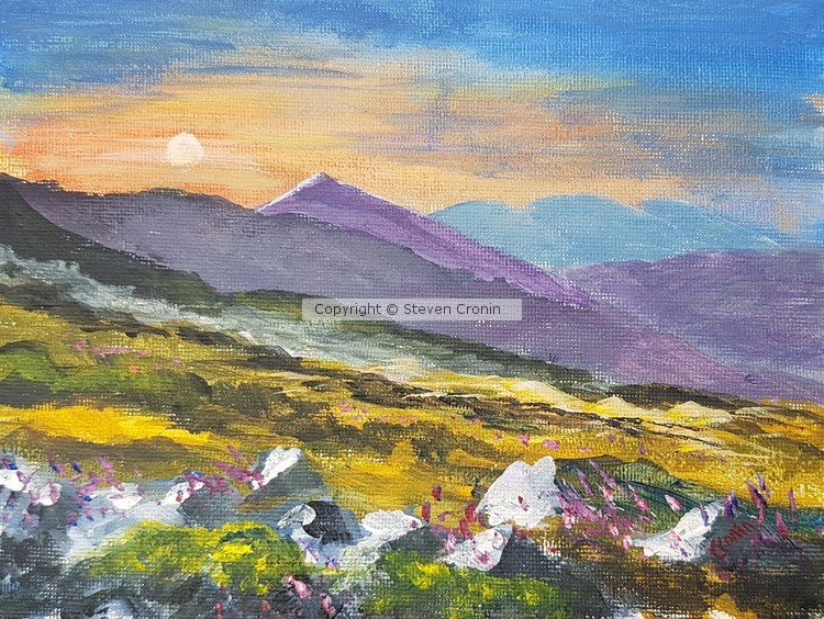 Sunrise in the Cairngorms Acrylic Painting