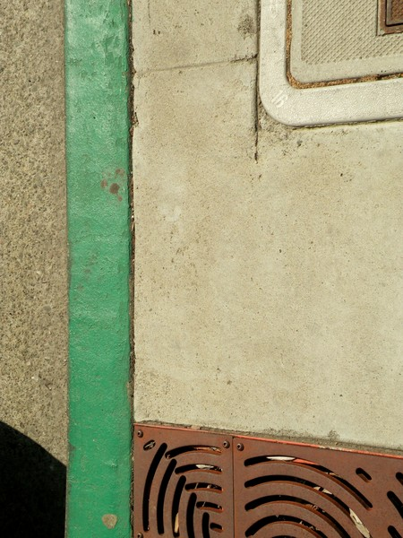 Second street Iron with Green stripe