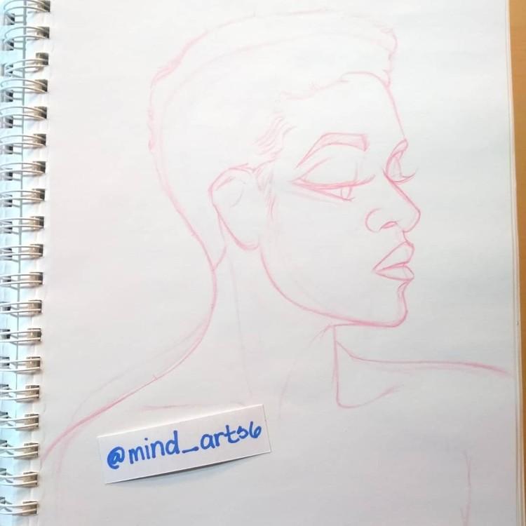 Portrait sketch of Shameless Mya