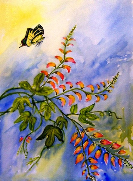 Mina Lobata and Butterfly