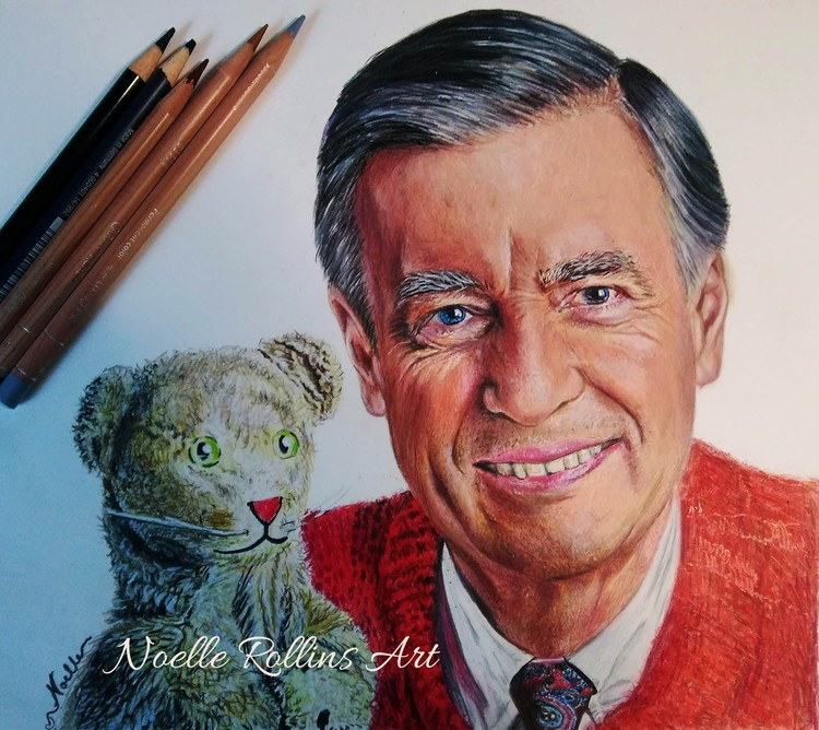 Mr Rogers portrait drawing
